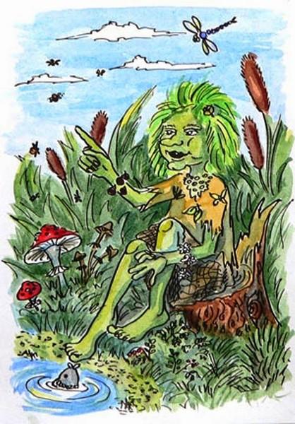 Рисунок героя из народной сказки кикимора запомнившегося больше всего