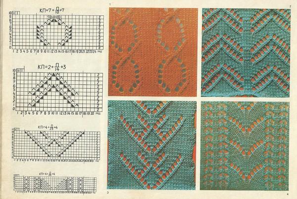 схемы м узоры вязание на вязальной машине группы мой мир