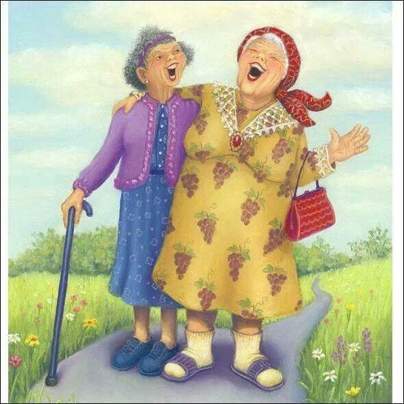 можете скачать веселые старушки подружки картинки например
